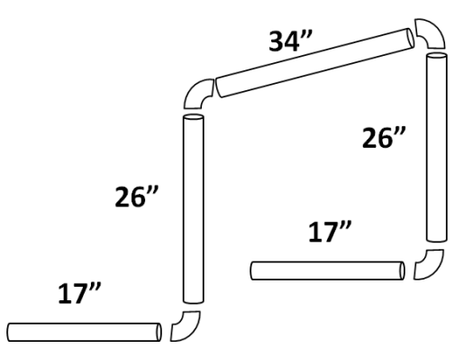 "5 piece hurdle design using 3/4"" PVC pipe"