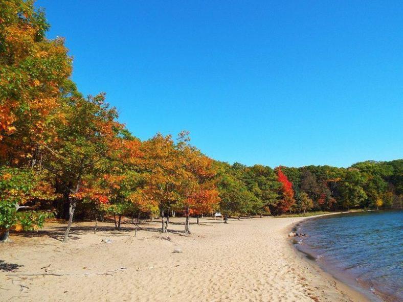 killbear-provincial-park-fall-colors-2015-beach