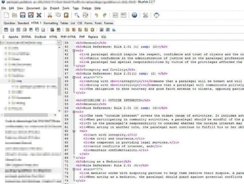 Bluefish open source code editor is great for HTML and javascript.