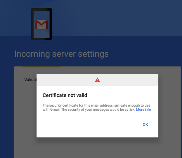 Google GMail Android Certificate App