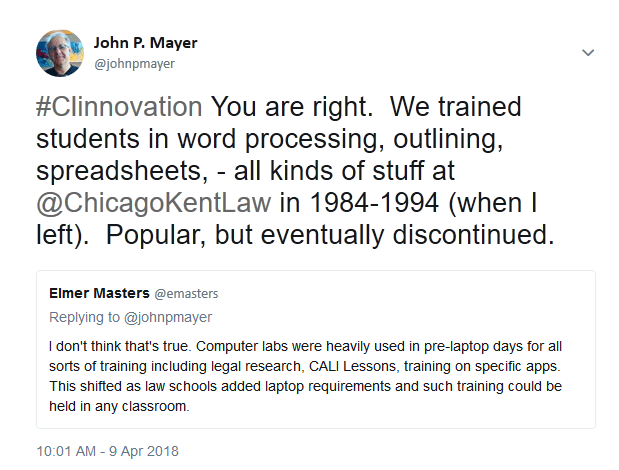 Tweets about training law school computers labs in the 1980s and 1990s