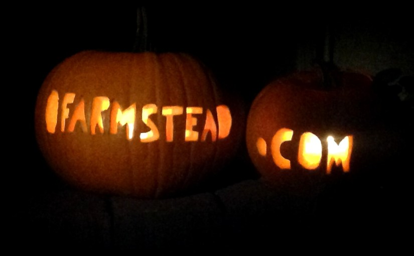 happy halloween from o'farmstead!