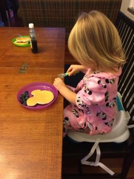 Minnie pancakes and PJs