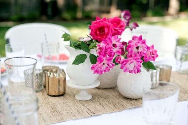 Spring Decorations On The Table