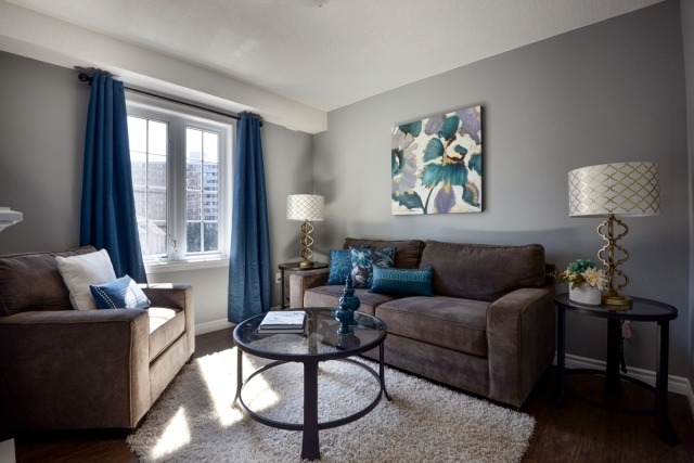 Color Ideas For Living Room – Gray Wall Paint.