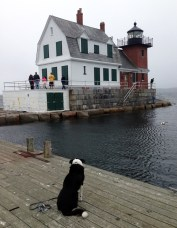 It is a cute lighthouse.