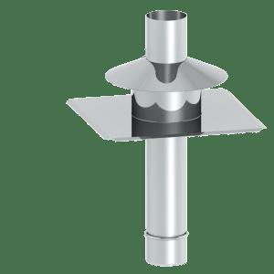 Kopfabdeckung aus Edelstahl für Abgasleitungen