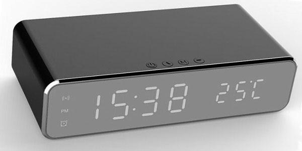 Reloj despertador con cargador inalámbrico barato