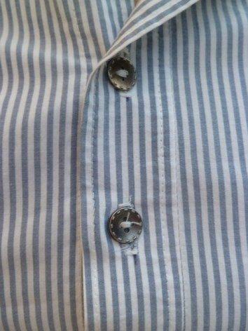 The buttons are from a shirt I got in the thrift shop and stripped