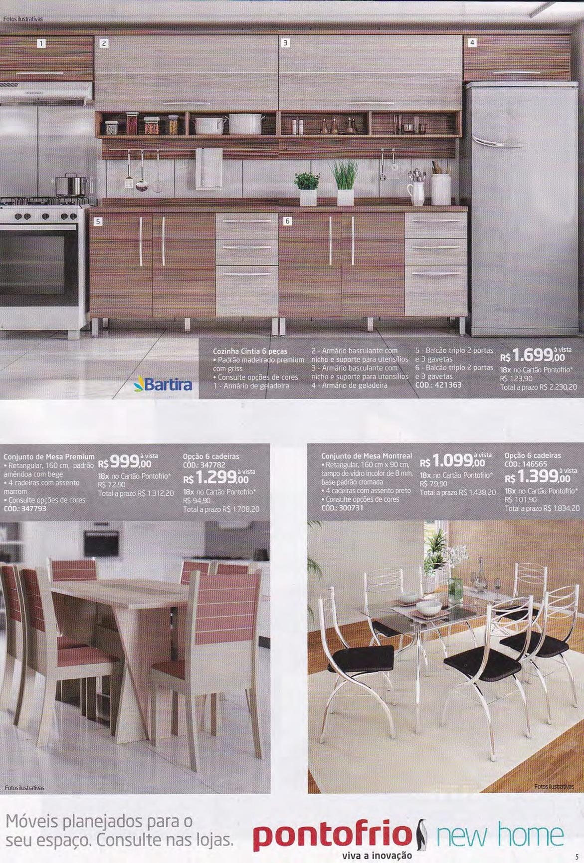 Cozinha Planejada Ponto Frio Bicama Bibox Gavetas