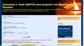 Exámenes y tests de oposiciones de otros años