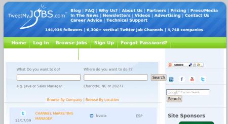 tweetmyjobs buscador empleo twitter