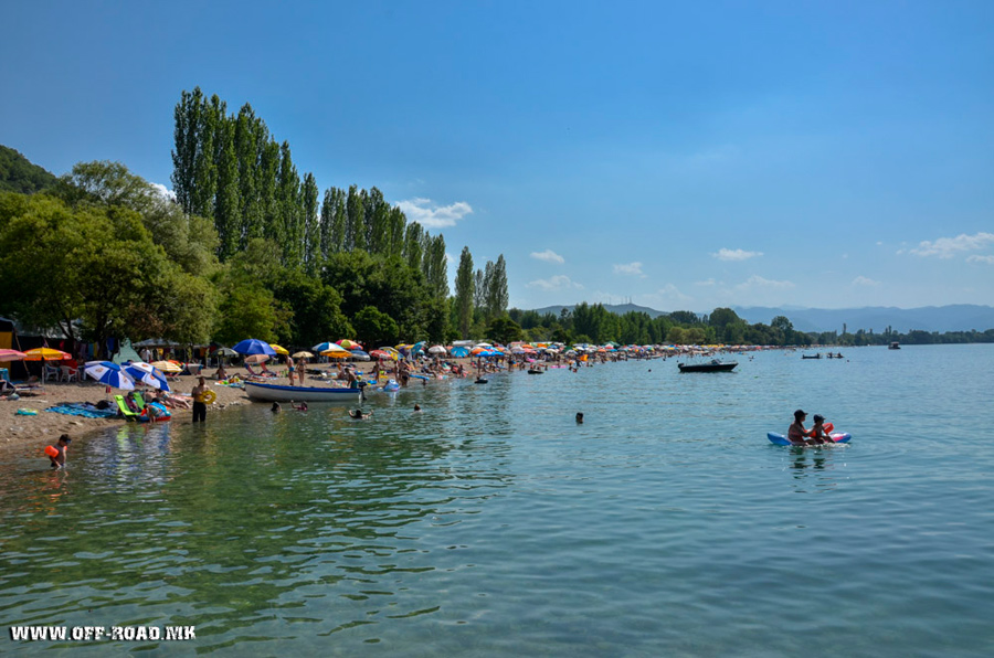 Ljubanista – beach and Auto camp on Ohrid Lake