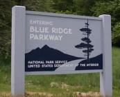 Entering Blue Ridge Parkway