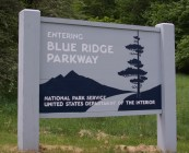 Entering Blue Ridge Parkway