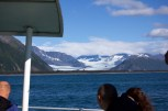 Looking out at distant glaciers