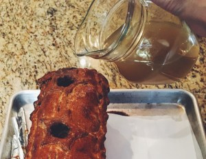 Use chimney holes to add aspic to Pate en Croute