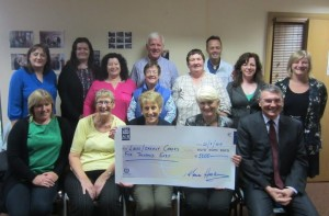 MEP Marian Harkin donates to Family Carers in Laois/Offaly