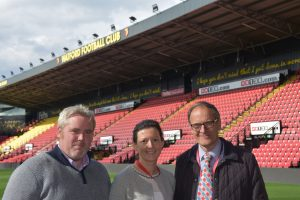 Irish company cleaning up in the UK celebrate their inaugural Premiership Stadium clean at the Watford v Arsenal game at Vicarage Road!