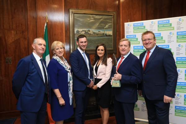 Ireland's Best Young Entrepreneur Finalists From Tipperary Local Enterprise Office Meet With Ministers #IBYE