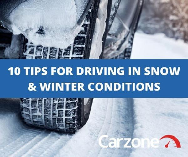 Ten tips for driving in snow and icy conditions from Carzone
