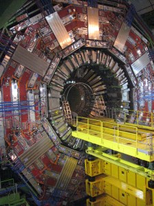 LHC : CMS waiting for tracker insertion