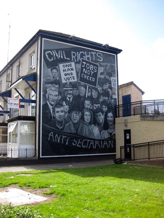 bogside mural in Derry Northern Ireland