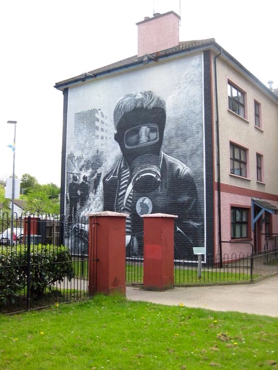 Bogside mural of troubles in Derry Northern Ireland