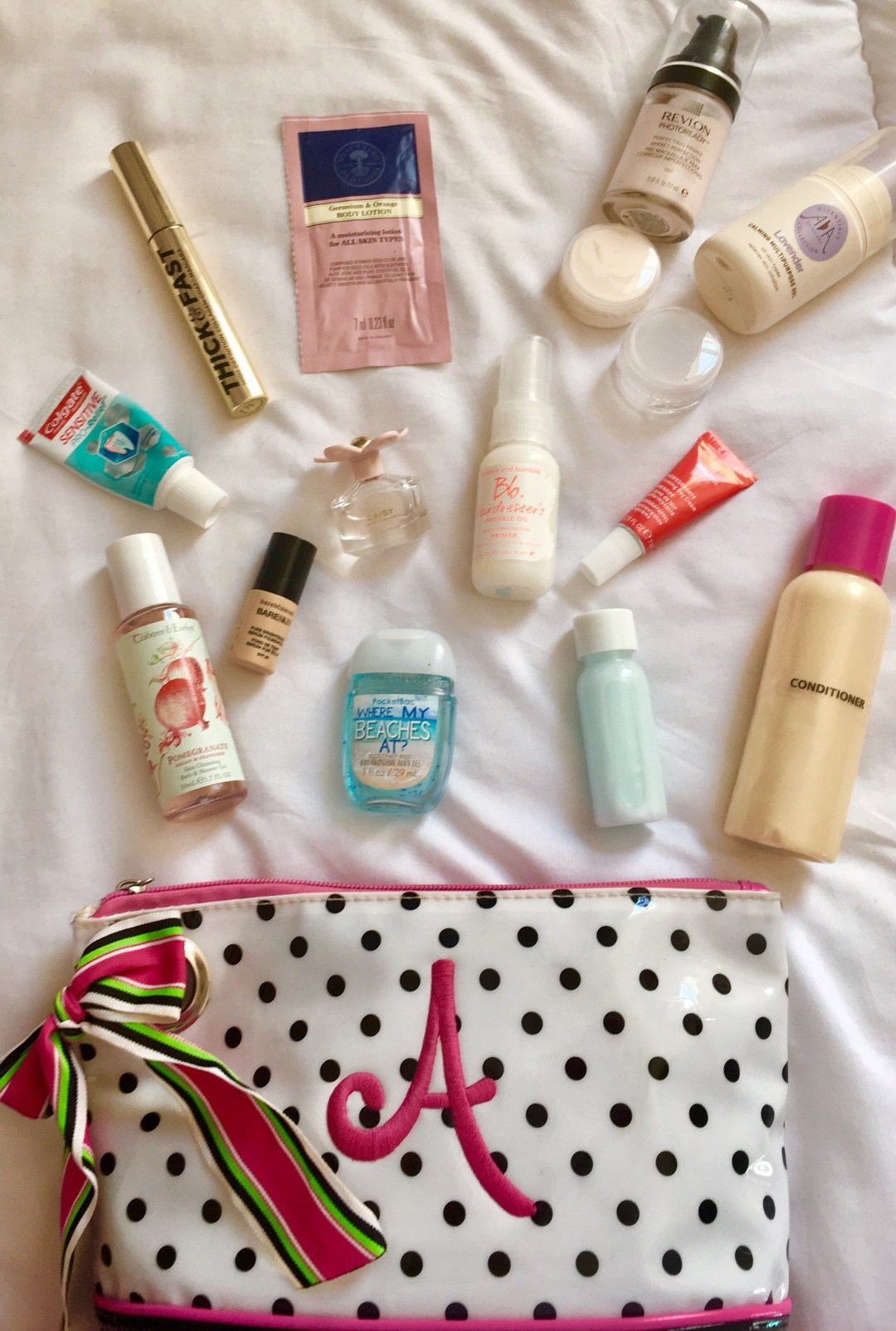 mini toiletries to pack in a carry on suitcase