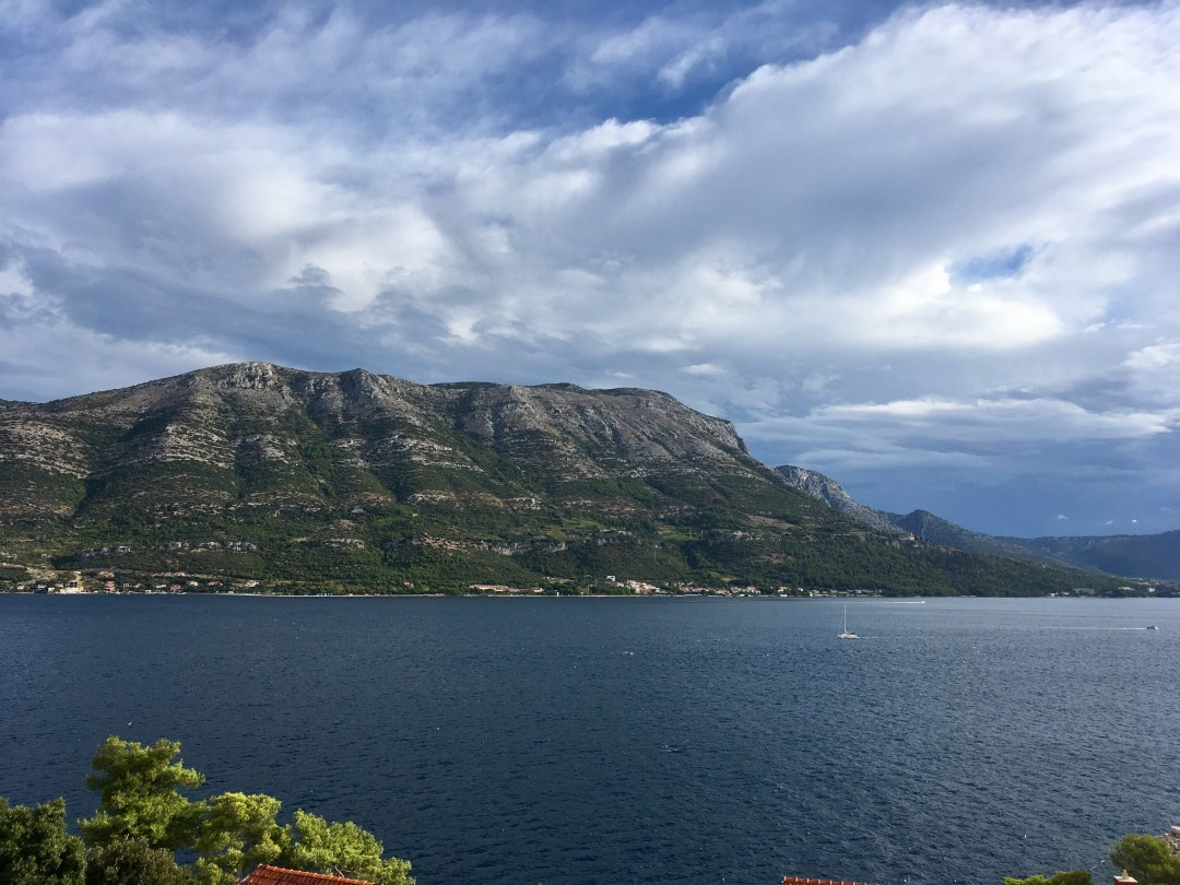 A view of the Dalmatian coast from Korcula, Croatia