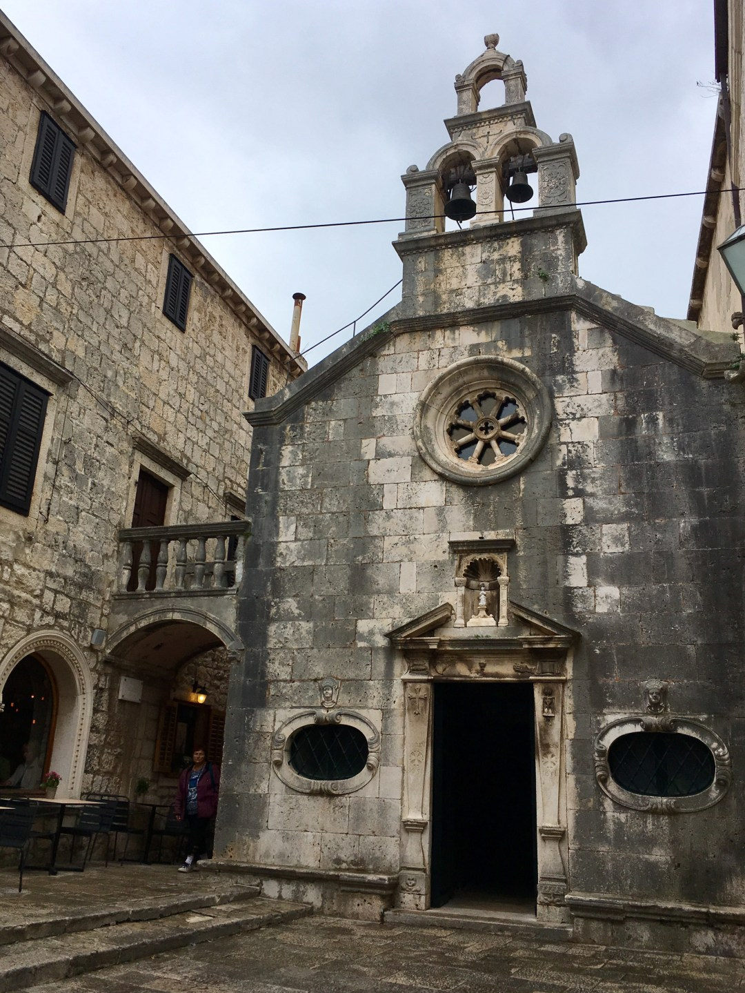 An old church in Korcula's Old Town, Croatia