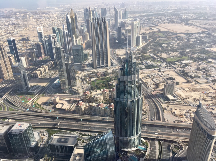 View from At the Top Burj Khalifa, Dubai