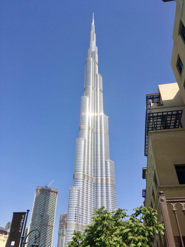 World's tallest building - Burj Khalifa in Dubai, UAE