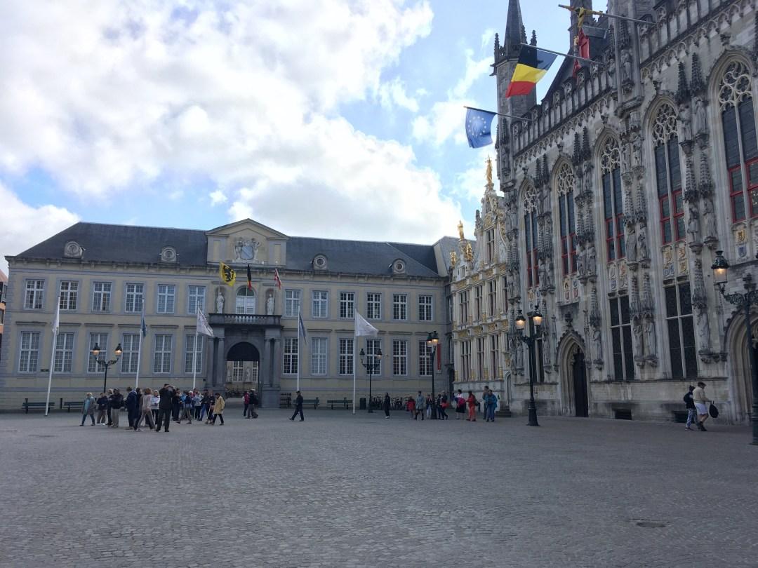 Burg Square Bruges Belgium
