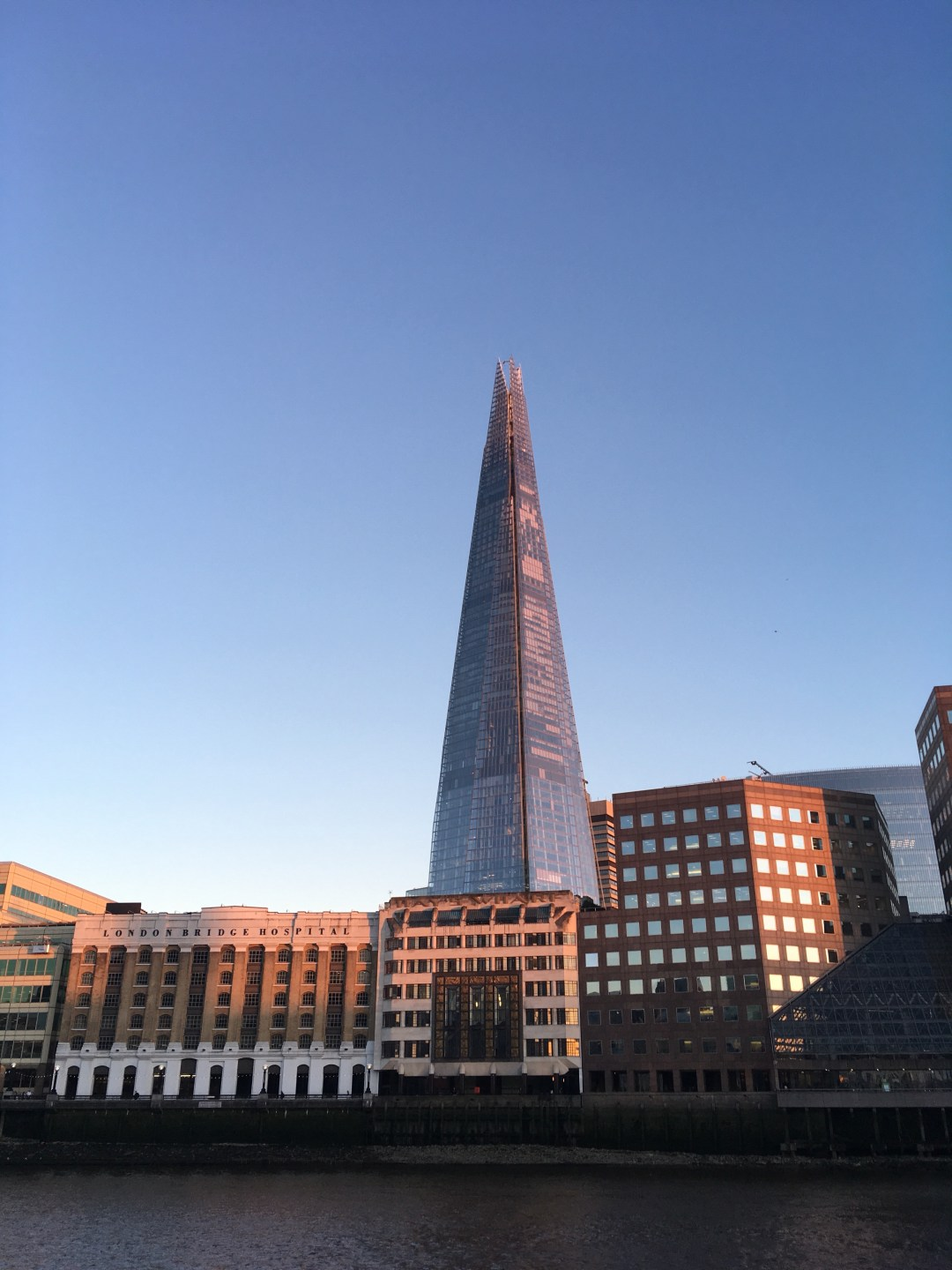 Shard and London Bridge on summer evening in London