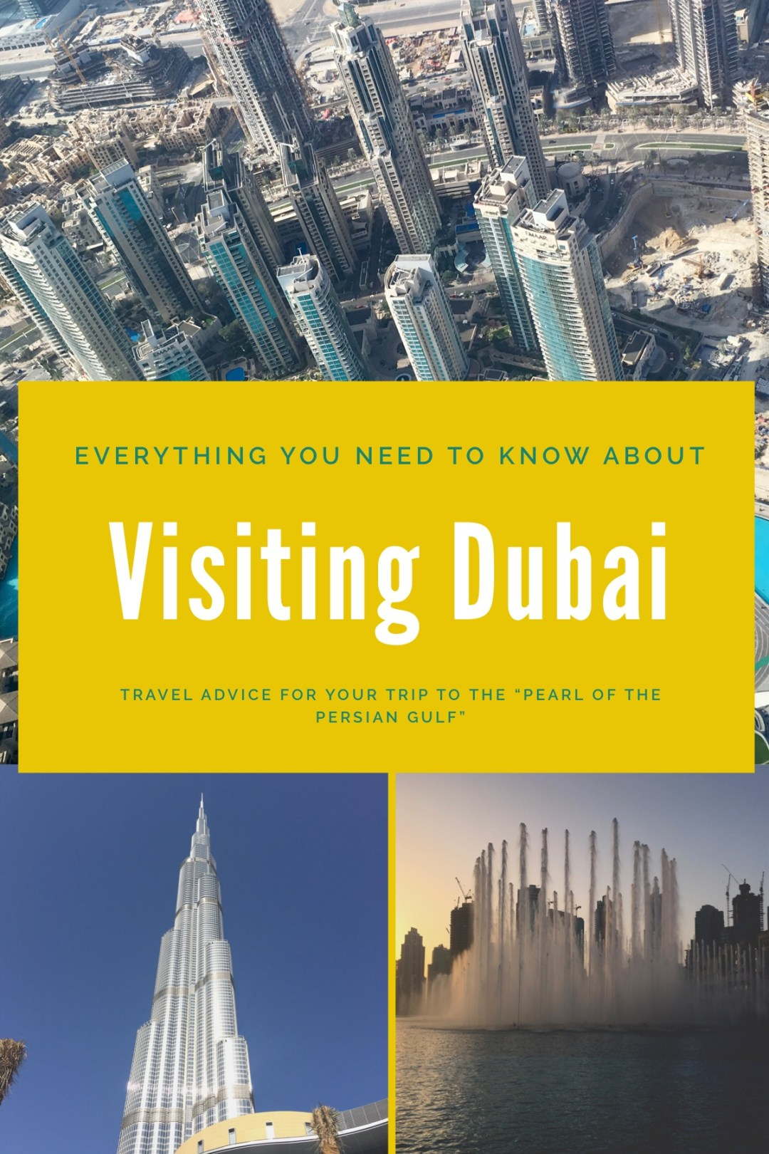 Travel tips for visiting Dubai