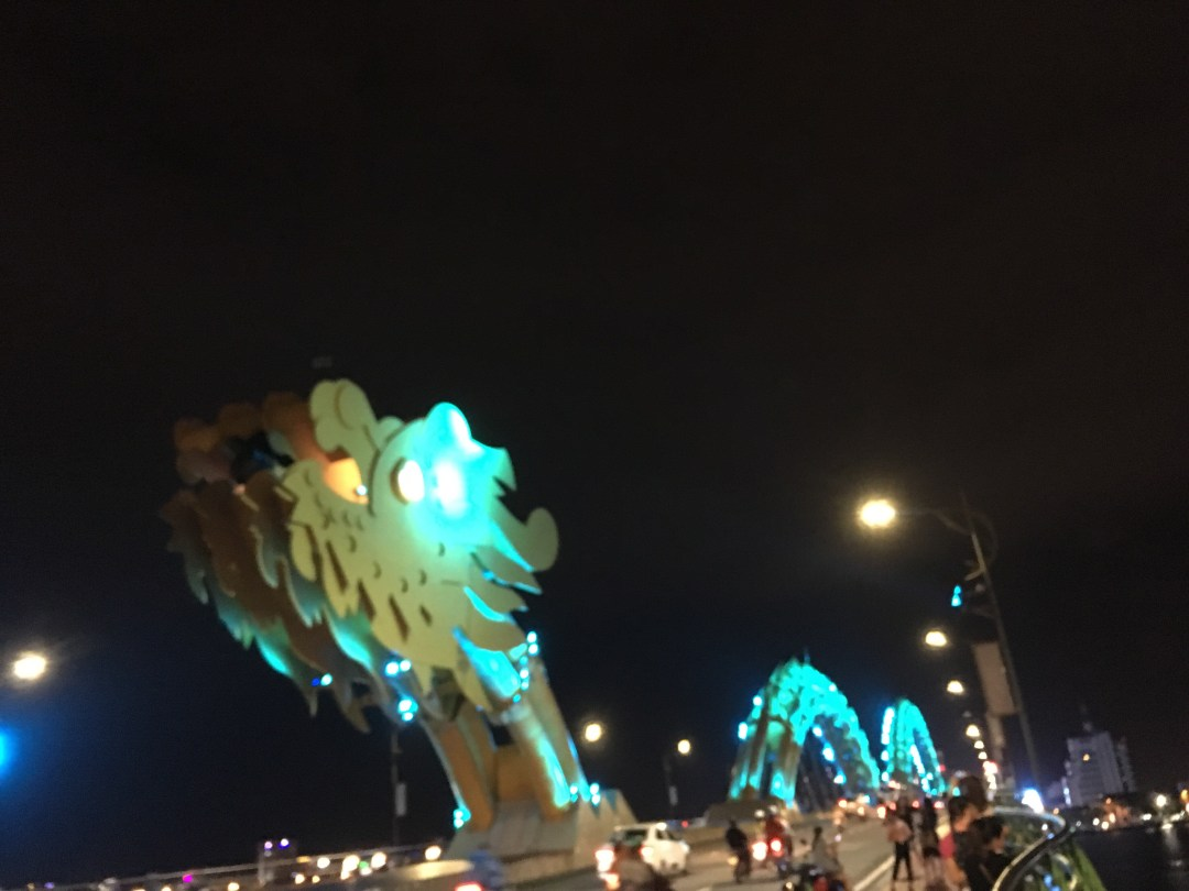 Golden Dragon Bridge Da Nang Vietnam