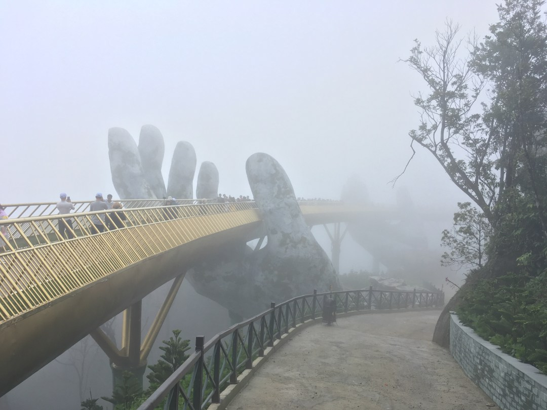 Golden Bridge in Ba Na Hills near Da Nang Vietnam