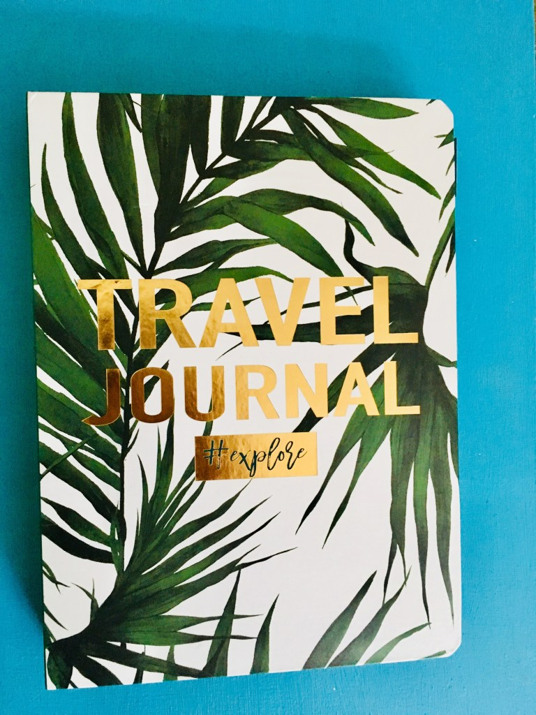 Travel journal stationary tropical plants