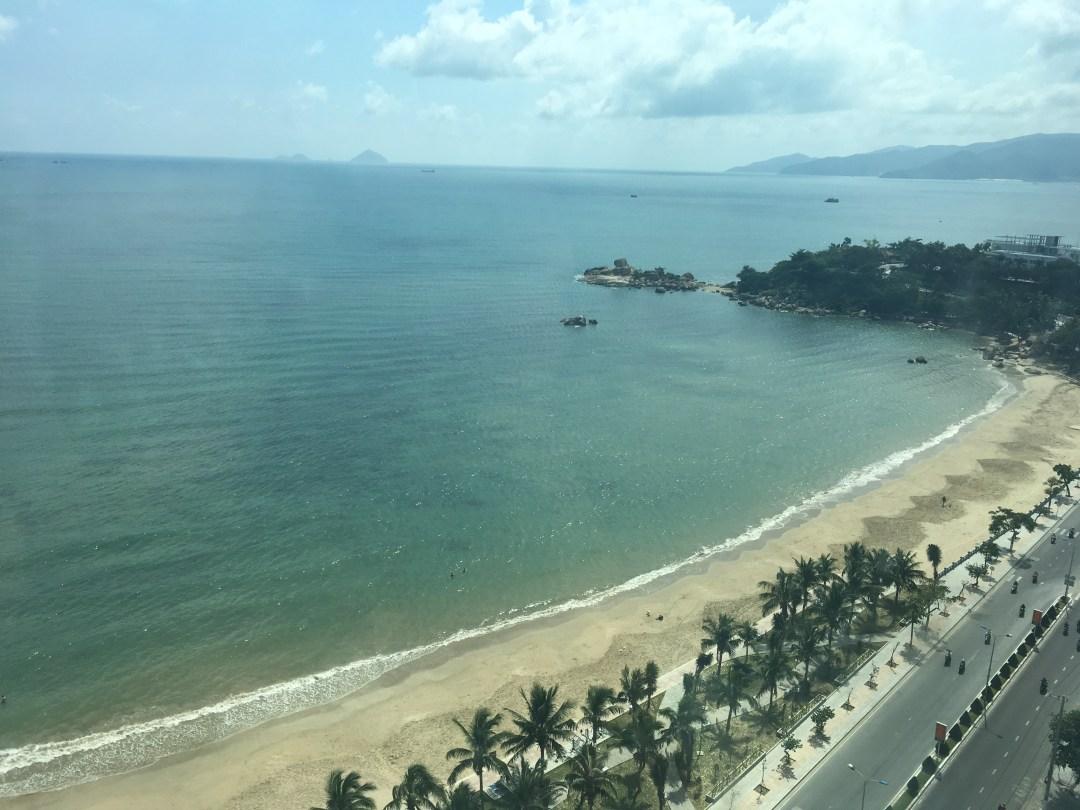 View from condo of Nha Trang Vietnam