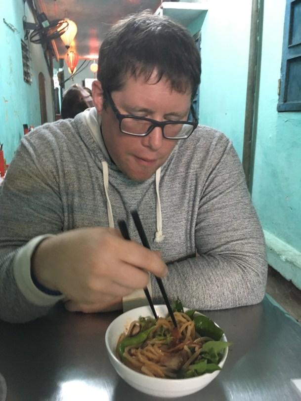 Cau Lau - a Vietnamese noodle soup native to Hoi An Vietnam