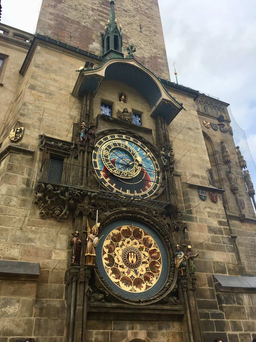 Prague's Astronomical Clock, 600 year old top tourist attraction in the Czech Republic capital