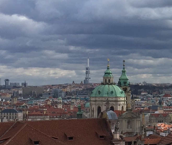View from Prague Castle including the world's second ugliest building