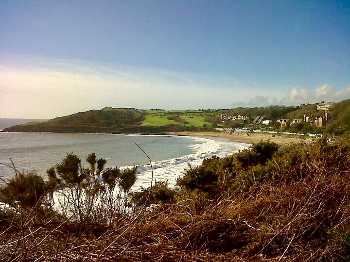 Coastal walk from Mumbles to Caswell on Gower Peninsula, Wales