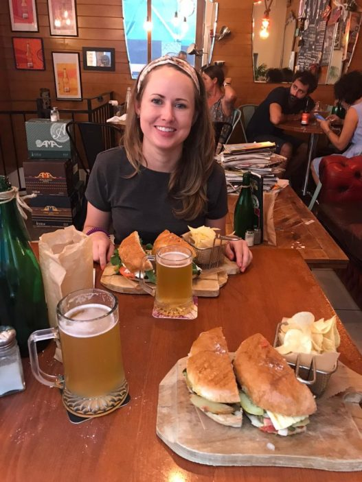 Craft beer and sandwiches at bar and cafe 67 Kapitali