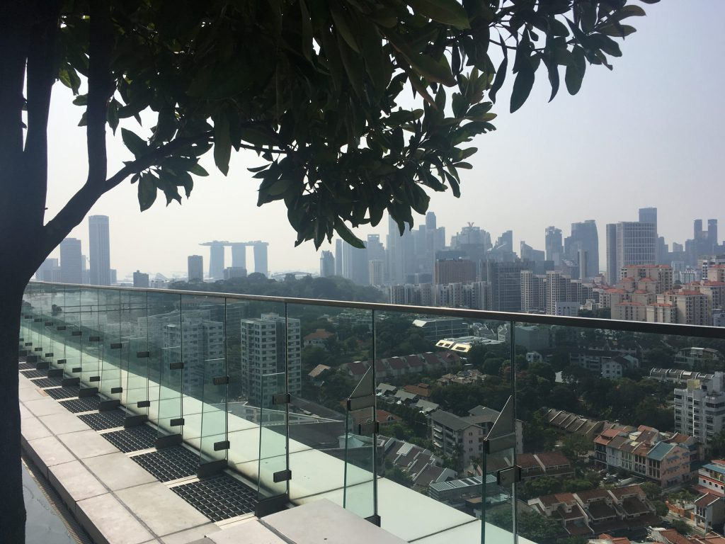 View from the rooftop of Hotel Jen Orchardgateway in Singapore