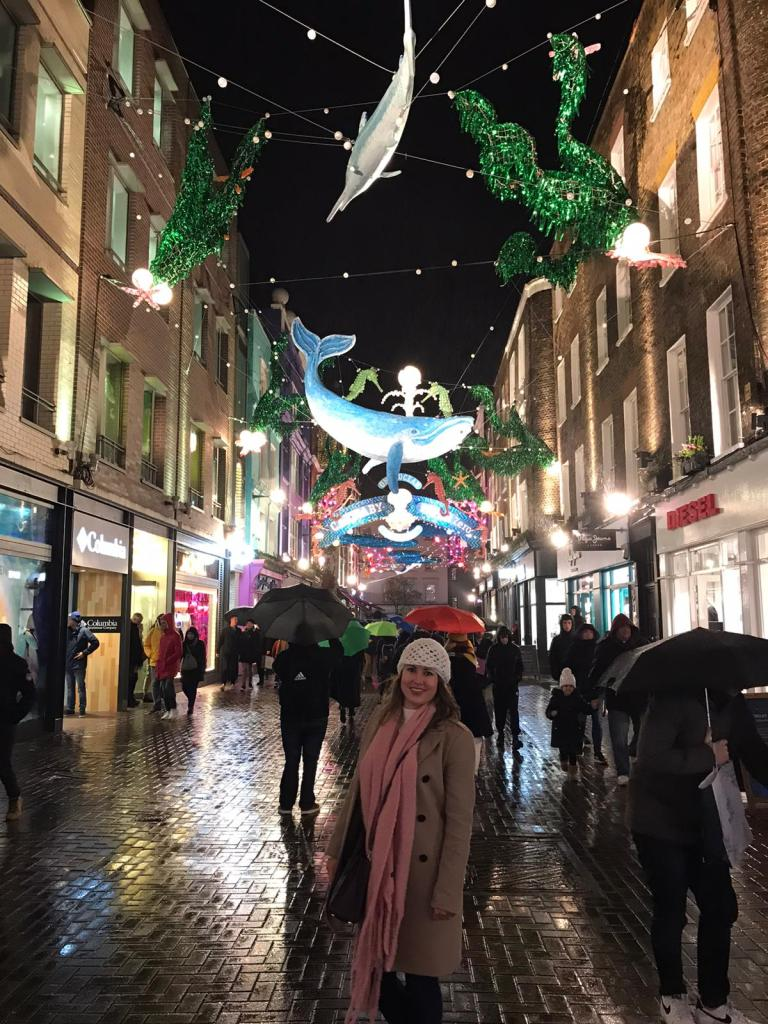 Carnaby Street Project Zero Ocean themed lights Christmas Lights London 2019