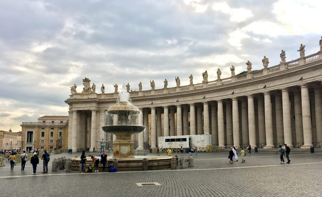 St Peter's square, visiting Vatican City