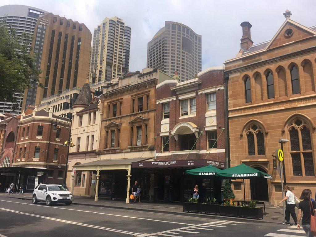 the Rocks neighbourhood in Sydney Australia