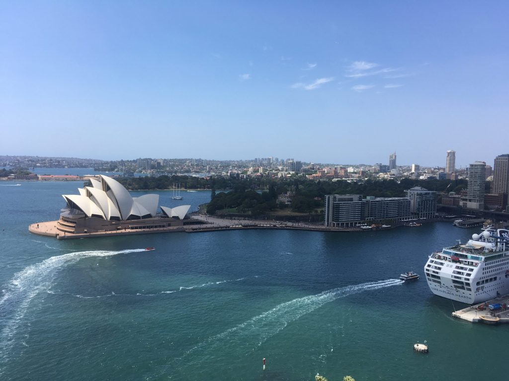 Circular Quay and Sydney Harbour with Sydney Opera House